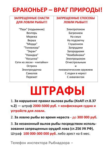 рыболовный кодекс россии штрафы